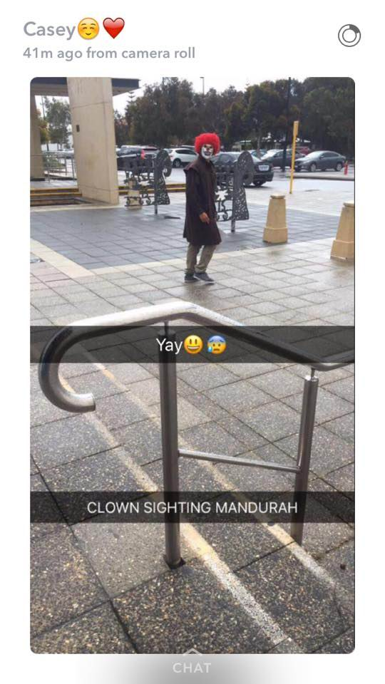 clown sighting mandurah