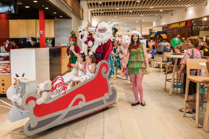 Santa's arrival parade.