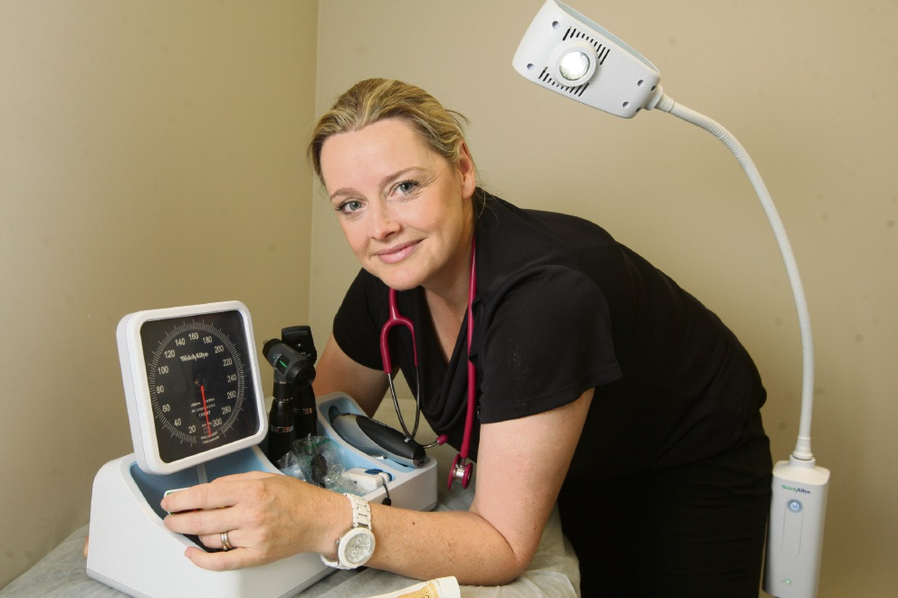 Midwife Linda Wilson.