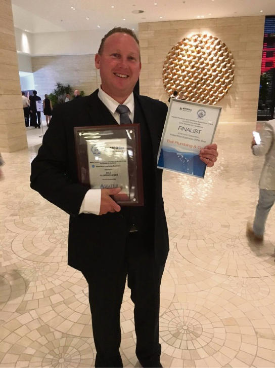 Bell Plumbing & Gas awarded WaterWise Plumbing Business of the Year award for 2016