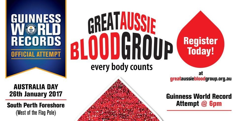 'Great Aussie Blood Group' Guinness World Record Attempt