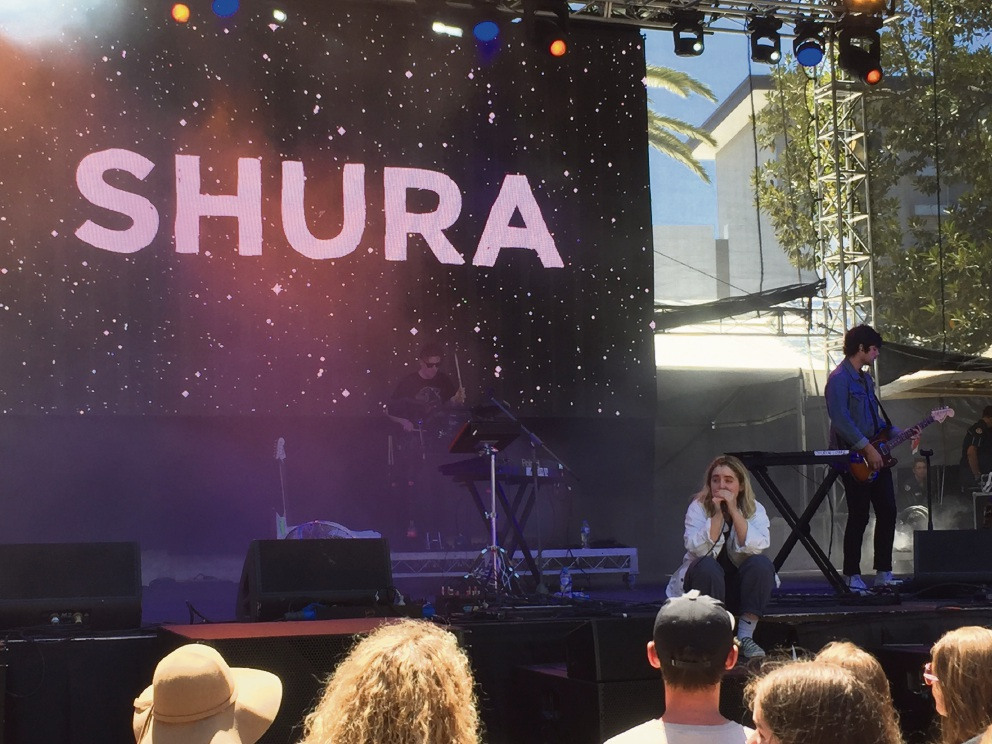 Shura entertained crowds early on Sunday.