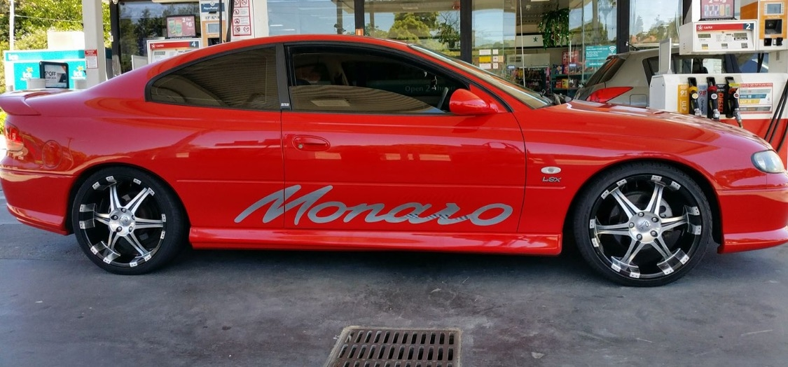 The Holden Monaro was found overnight.