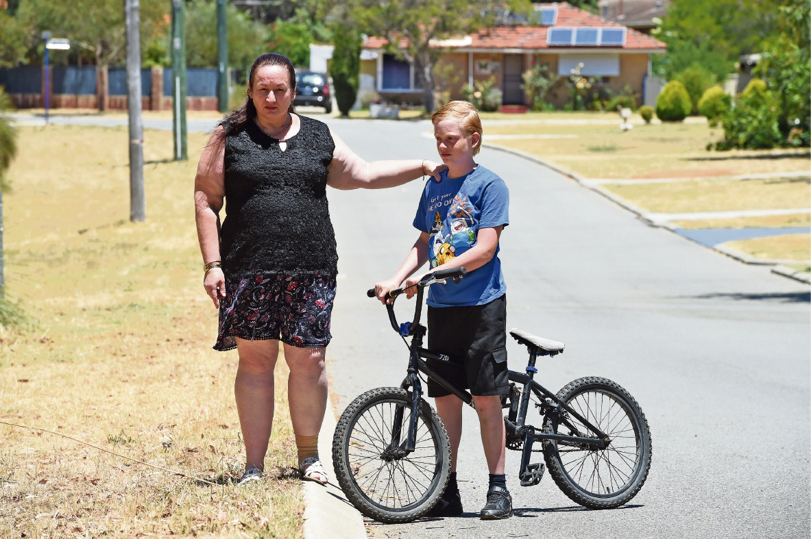 Teresa Ansell and son Reuben with his bike. Picture: Jon Hewson d463960