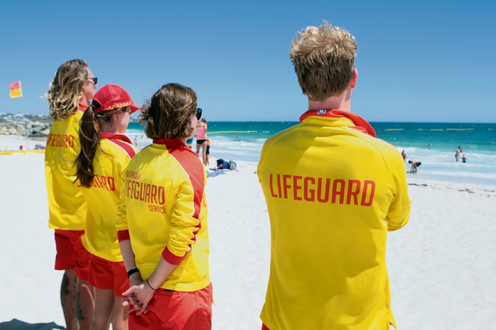 Sorrento beach lifesavers.