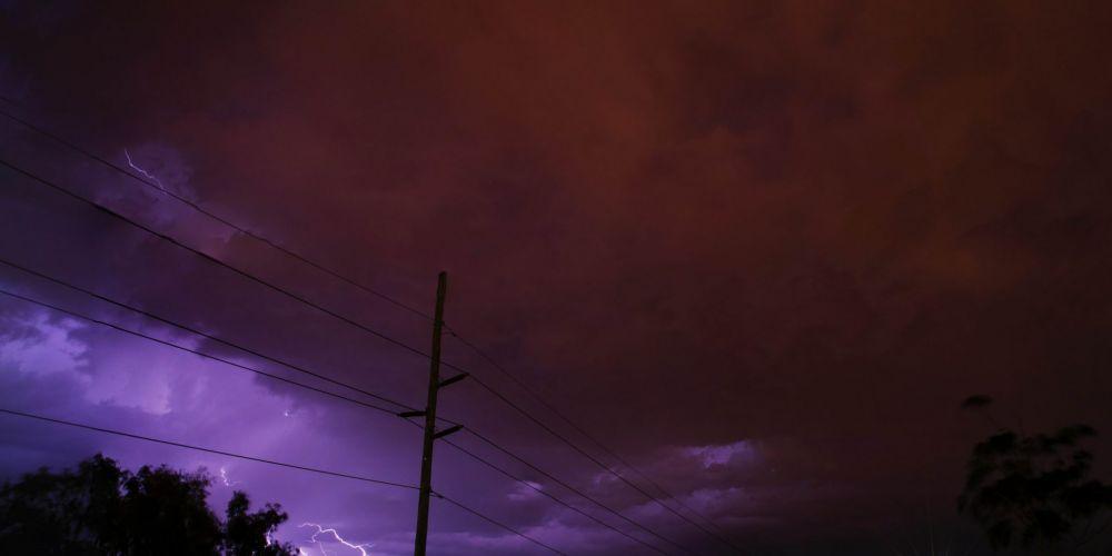 Thuy Le sent us this shot of lightning over Landsdale.