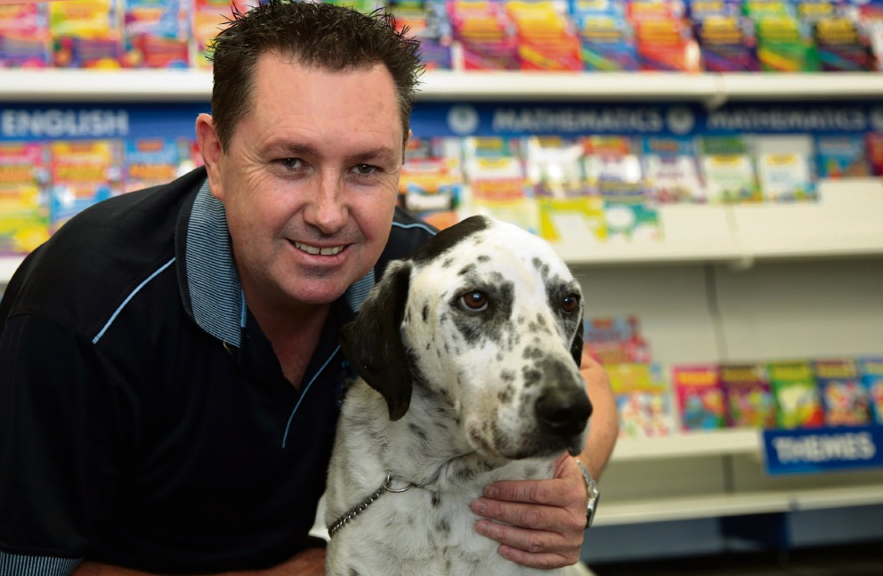 Ziggy, with owner Andrew Durnin, is the friendly public face of Ziggies Educational Supplies. Picture: Martin Kennealey d465365