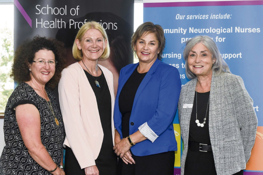 Professor Leanne Monterosso, Professor Anne Williams and Dr Brenda Bentley with Kathy McCoy.