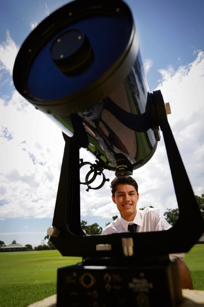 Alistair de Vroet is fascinated with space and hopes to work at NASA one day.