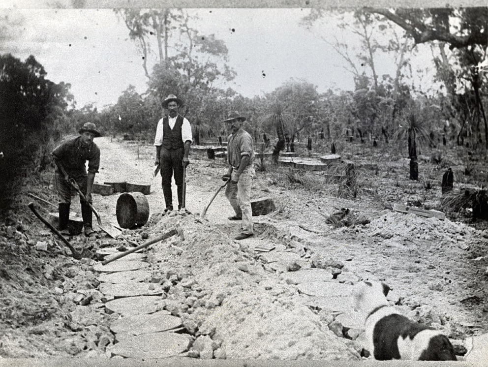 Construction of the Wanneroo Block Road in the 1870s. Pictures: Wanneroo Regional Museum