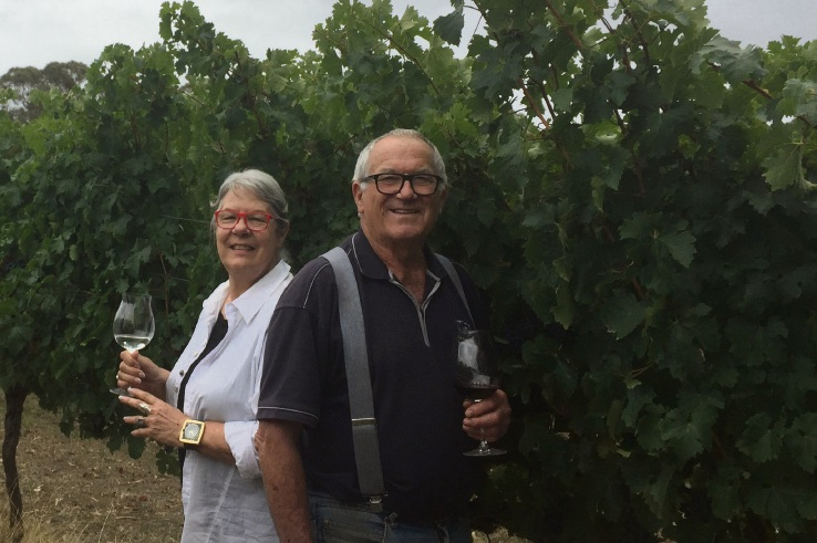 Hilde and 'Duke' Ranson of Duke's Porongurups Winery.