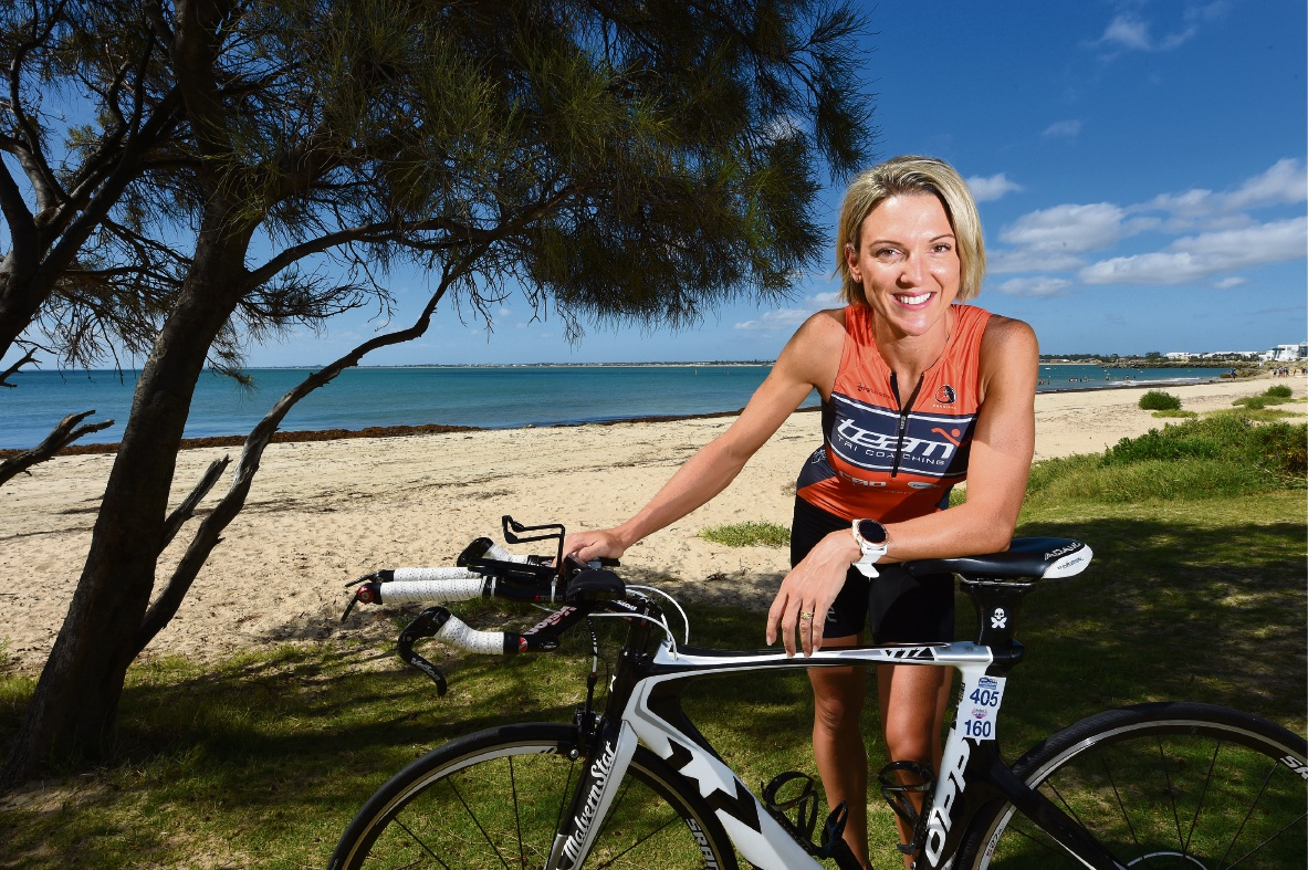 Katie Adams is training for her first ironman event later this year. Picture: Jon Hewson