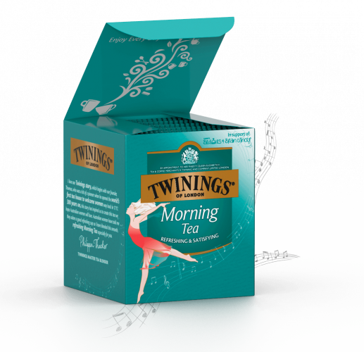 One of the specially designed boxes. Photo: Twinings