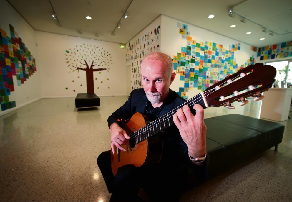 Classical guitarist Don Neander. Picture: David Baylis www.communitypix.com.au   d468020