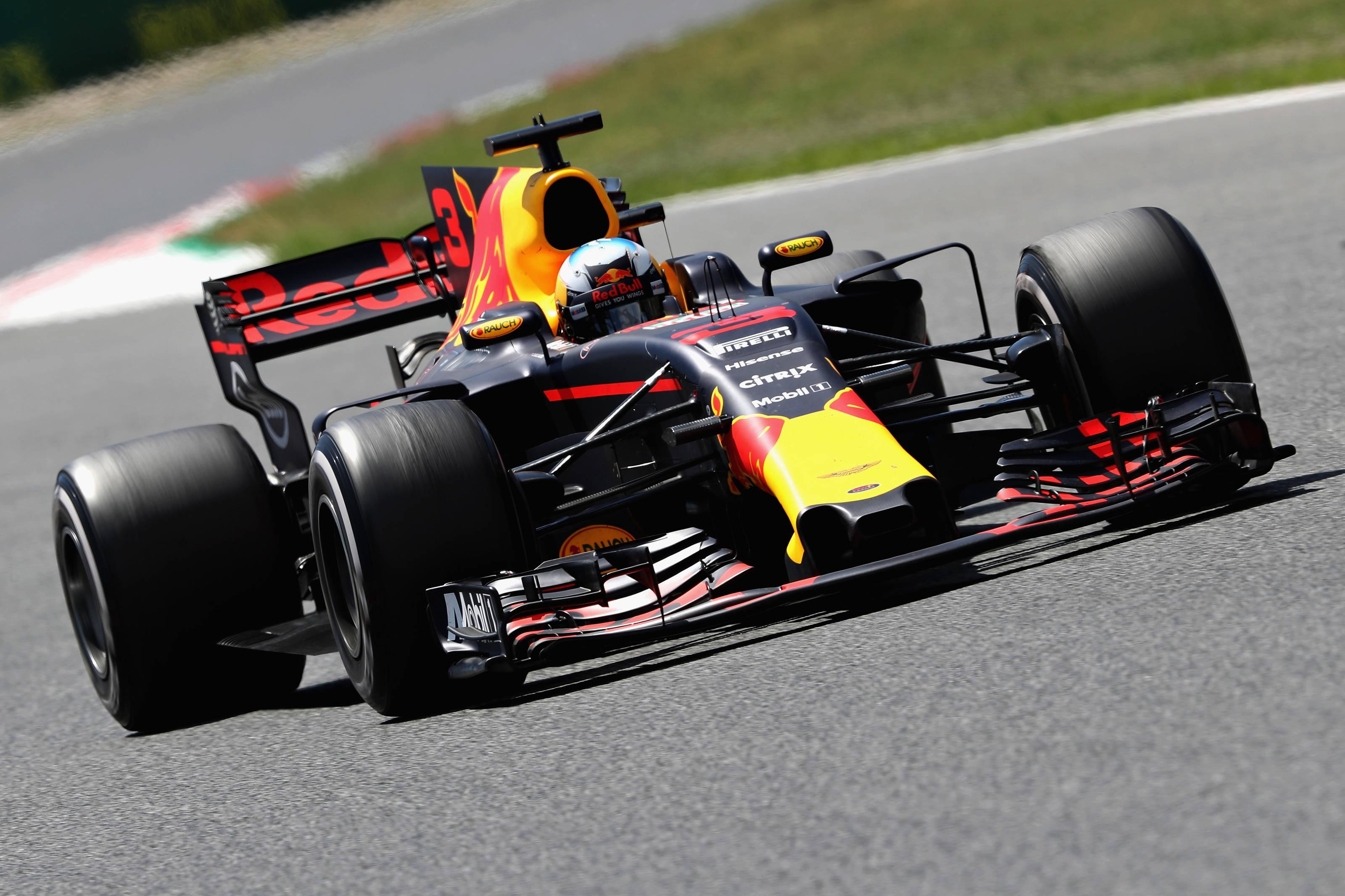 Ricciardo's first podium finish of F1 year