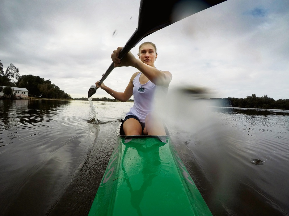 Bayswater resident Yasemin Ray (16) has earned back-to-back under-16s selection in the Australian Canoe Team for the upcoming Olympic Hopes Regatta held in the Czech Republic from September 15 to 17. Picture: Andrew Ritchie