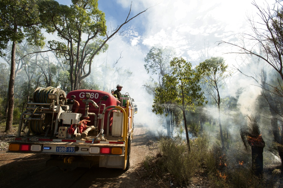 The Depatment of Parks and Wildlife undertaking prescribed burning in the Perth Hills. Picture: Jennifer Eliot