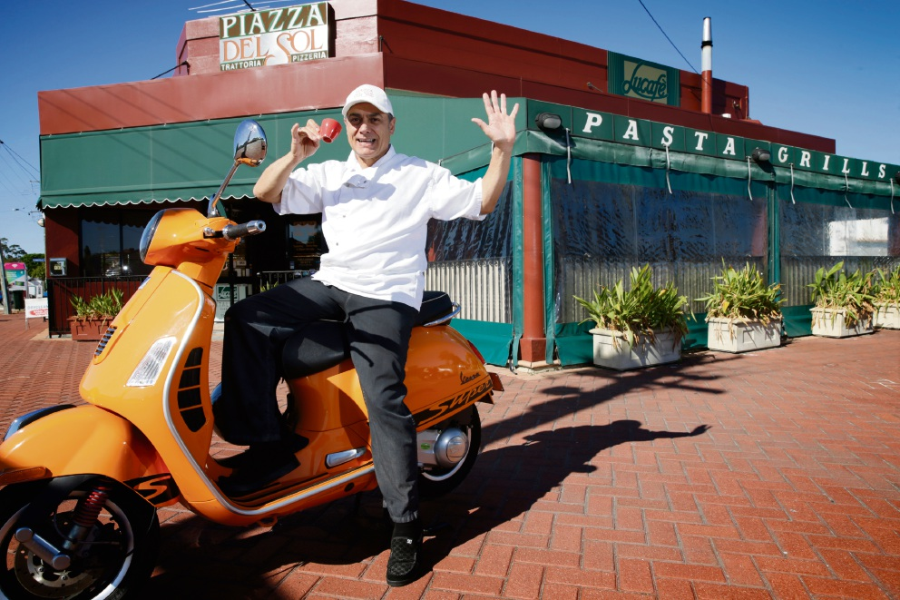 Luigi D'Annunzio outside Tuart Hill's Lucafe. Picture: Andrew Ritchie           d469287