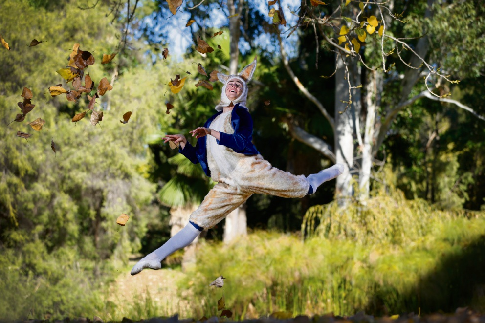 Brent Carson as Peter Rabbit. Picture: Andrew Ritchie