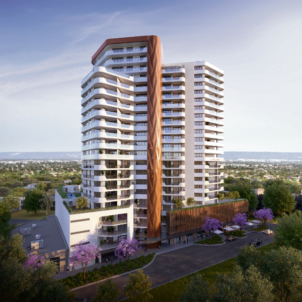 An artist's impression of The Crest Burswood.