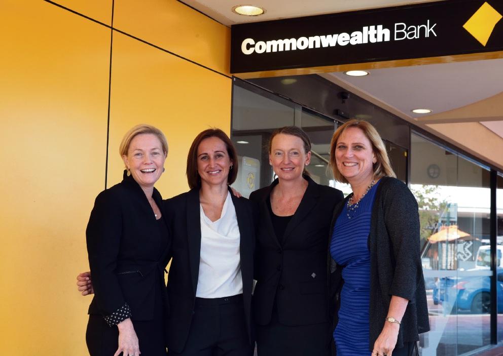 JBA liaison officer Lisa James, bank managers Kelly Keane and Shaynee Tuppin and JBA treasurer Audrey Todze. �������d470094