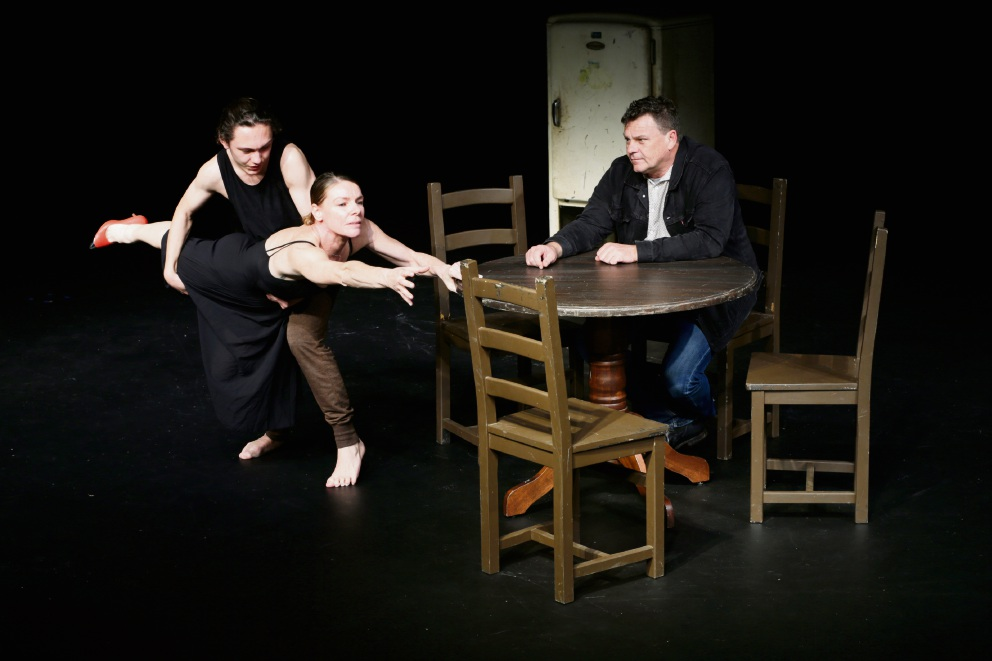 Mark Howett with Otto Kosok and Raewyn Hill. Picture: Andrew Ritchie