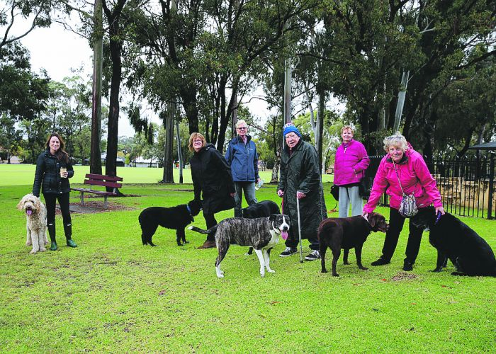 Local residents, Kate McNally, Narelle Douglas, Julie Bain, Frank