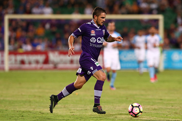 Josh Risdon will face his former teammates in the opening round of the A-League season when his Western Sydney Wanderers hosts his old side. Picture: Paul Kane/Getty Images