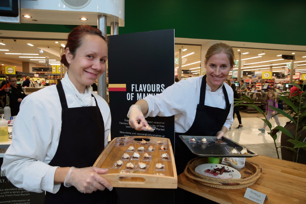 Veronika Kratka and Robyne Low from River Mint Dining. Picture: Martin Kennealey d470865