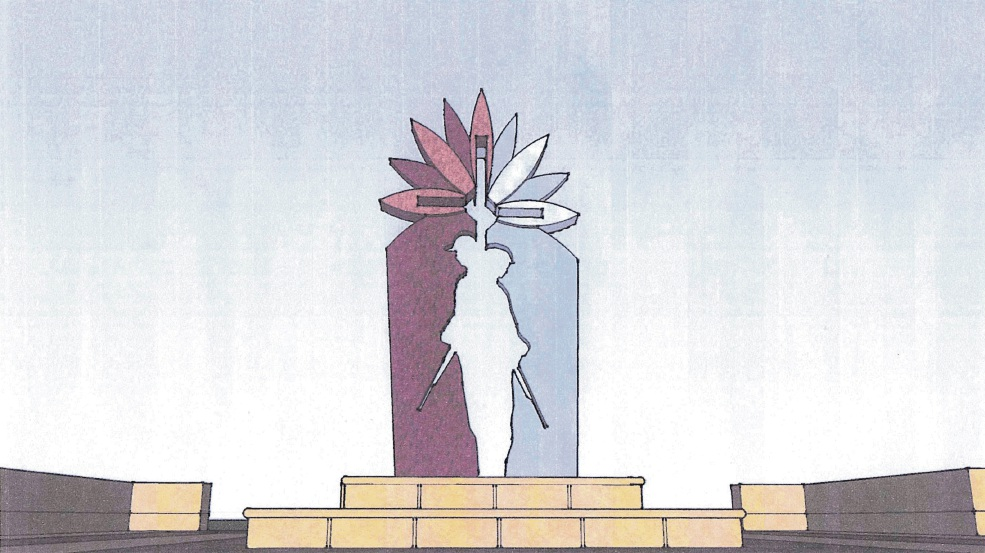 Artist's impression of the memorial sculpture.