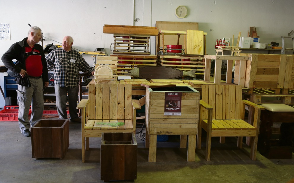 Items made by the Yanchep Community Men's Shed members.