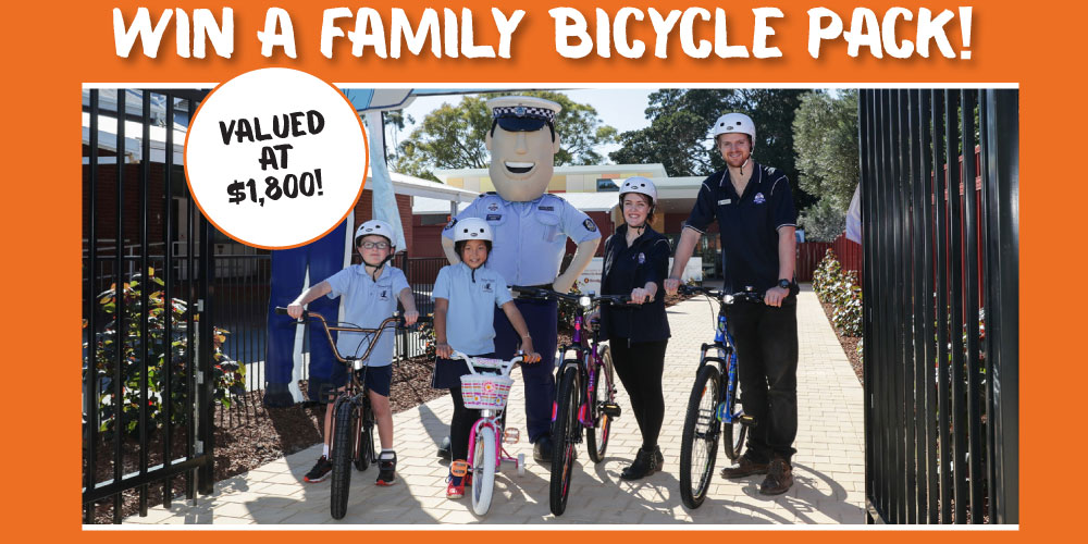 Win a Constable Care family bike pack