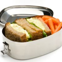 Steel lunch box and no plastic wrapping - this looks like an environmentally sound lunch to us. Photo: iStock.