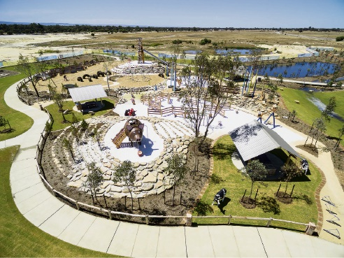 South yunderup 39 s adventurescape wins best play space gong for Australian institute of landscape architects