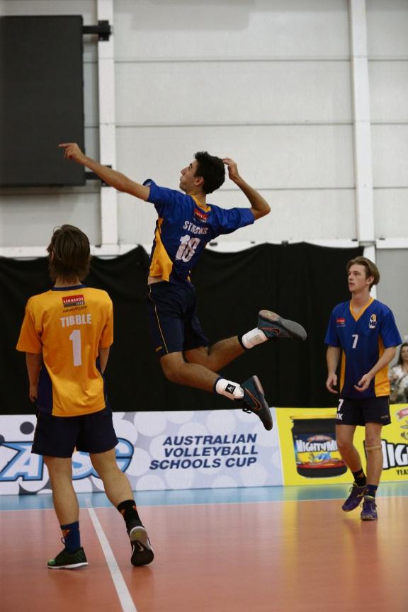 Joshua Symons in action.