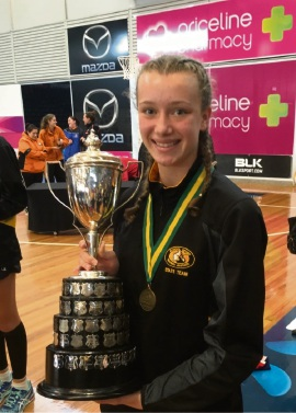 Netballer Ella Sigley personifies commitment and dedication to her sport.