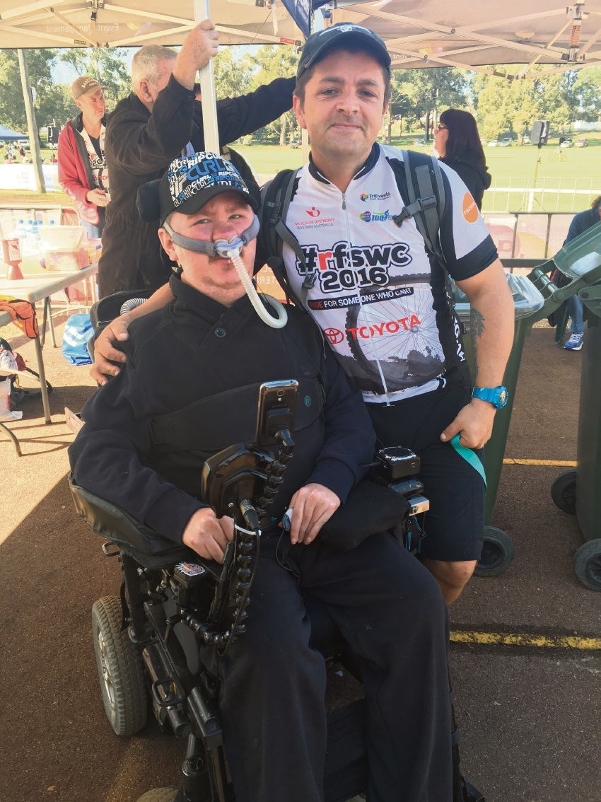 Leighton Evered is riding for his friend Joel Slinger, who suffers from muscular dystrophy.