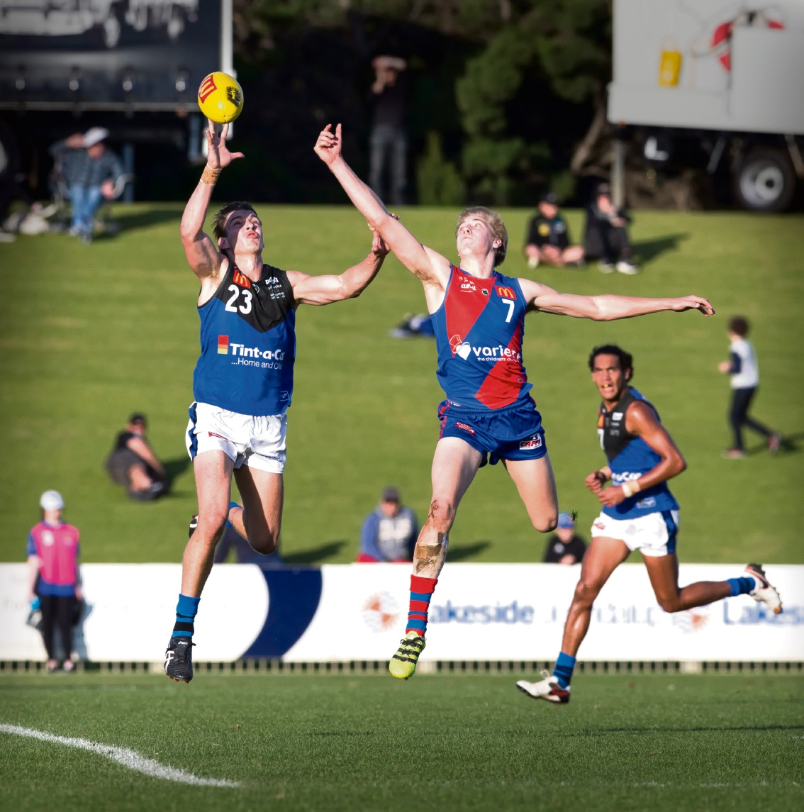 Oscar Allen made his league debut for the Falcons against East Perth.  Picture: Dan White