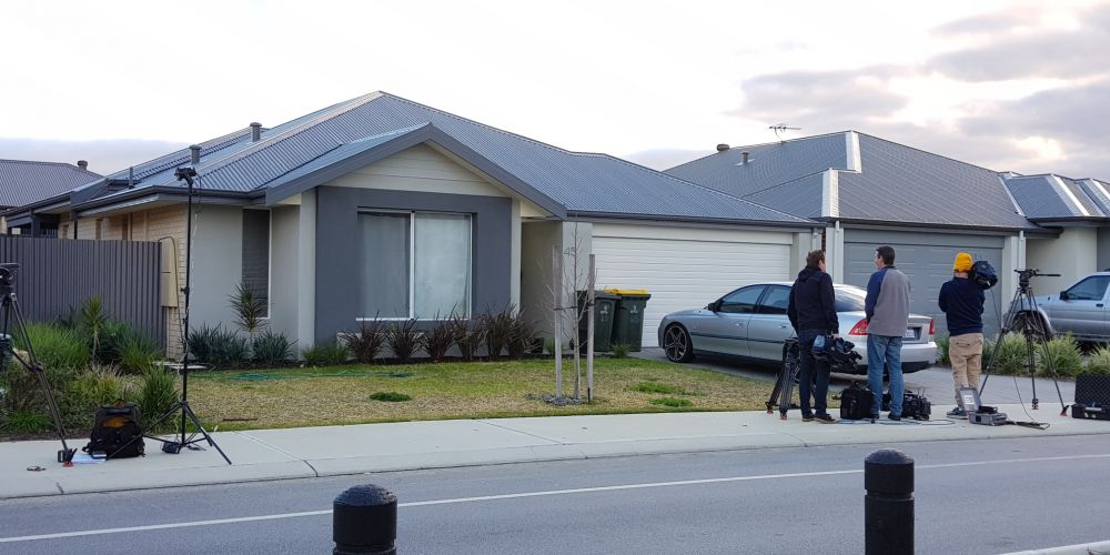 The house in Aveley where shots were fired this morning. Picture: David Baylis.