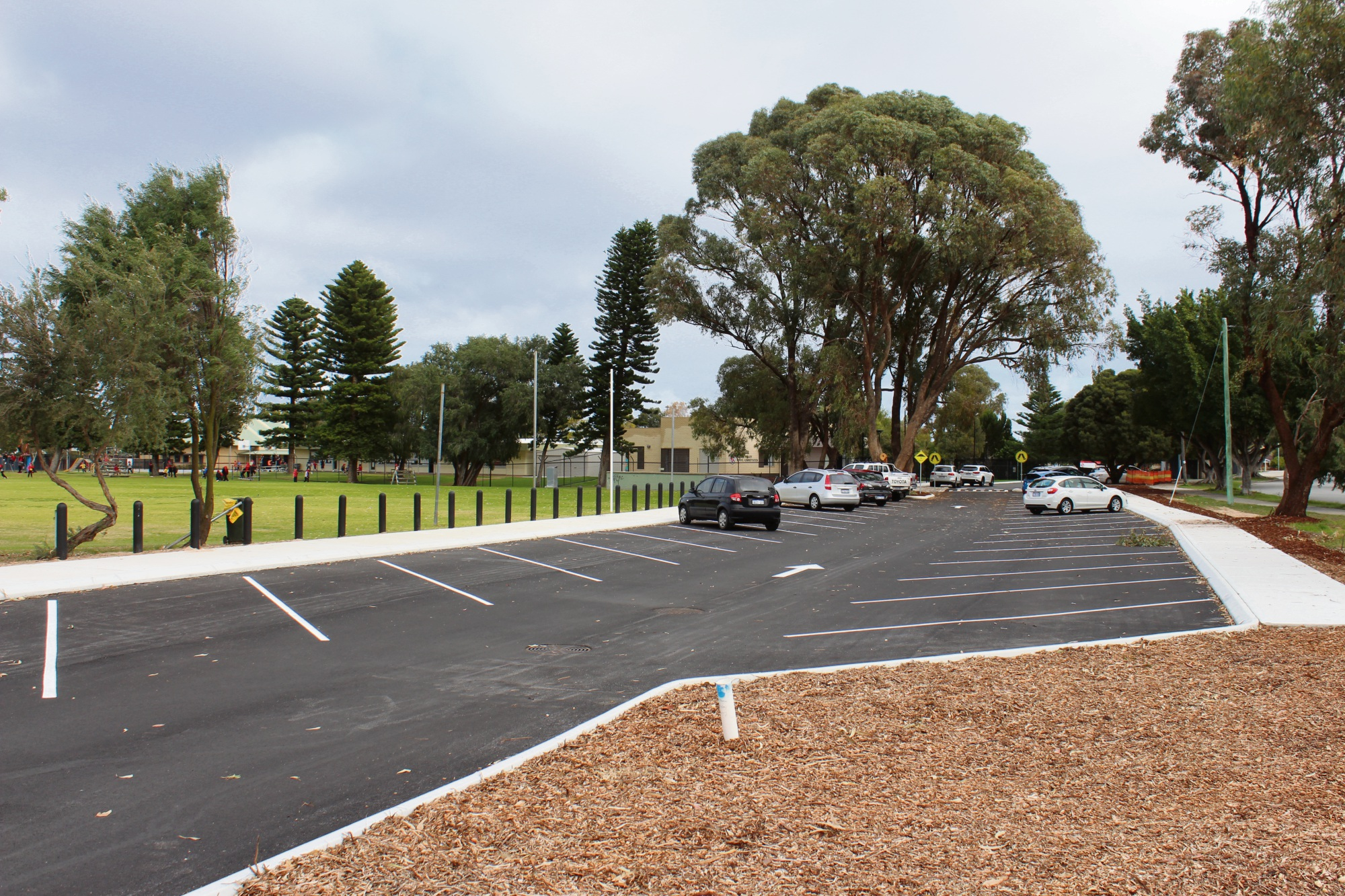The new car park at the Hillman Primary School will ease parking congestion.