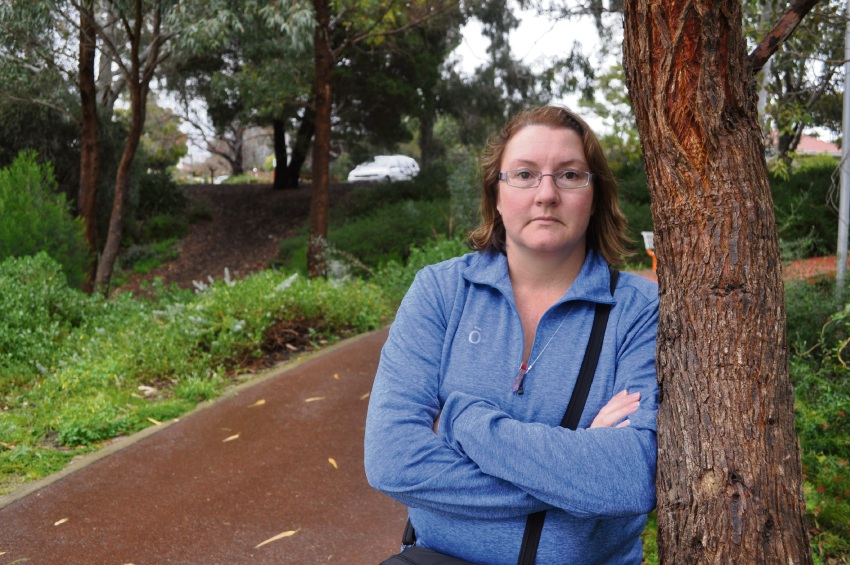 Joanna Rusling was less than 50m away from her car at Kadidjiny Park when a thief smashed her front window and made off with an $8000 cochlear implant belonging to her mother Anna Slattery.