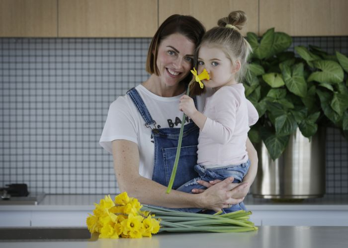 37 year old Nat Willacy with daughter May Willacy. Picture: Andrew Ritchie d472427