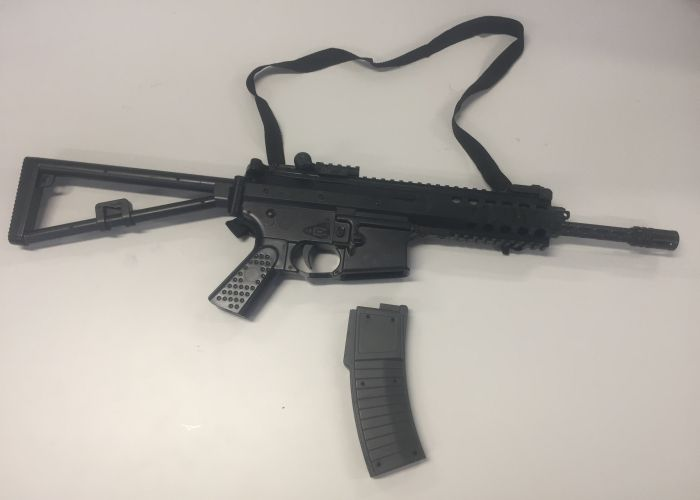 The air rifle seized by Mandurah Police. Picture: Supplied/WA Police