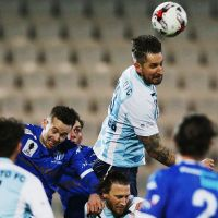 Steven McDonald of Sorrento heads the ball during an FFA Cup match against South Melbourne. Picture: Getty Images