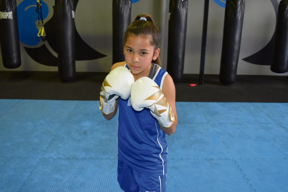 Competitive Boxing and Fitness Gym junior boxer Tara Moss.