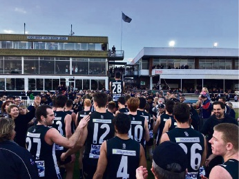 Tony Notte is chaired off Bassendean Oval last Sunday after the Swans' elimination final win.