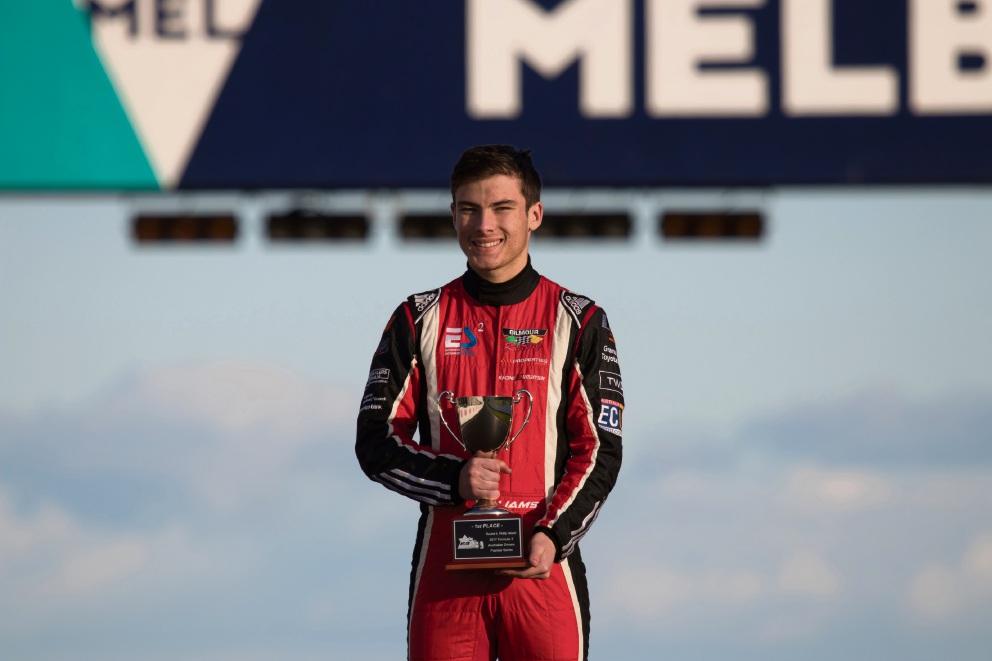 Calan Williams in round four of the Australian Formula 3 Premier Series.