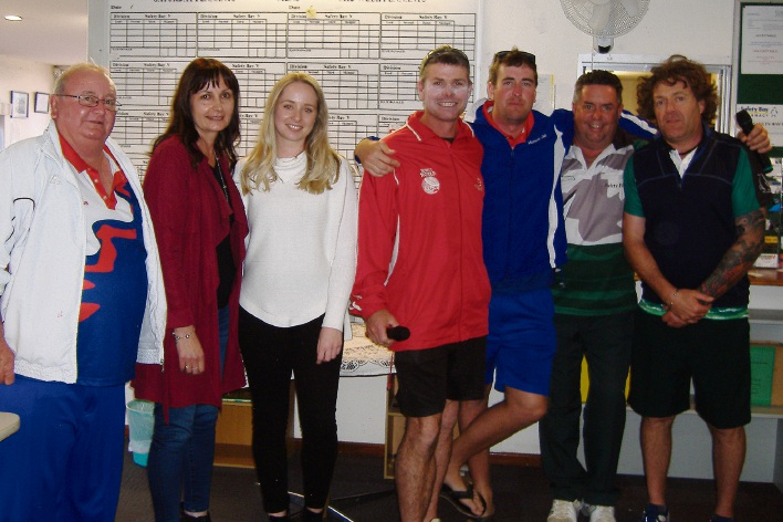 The winners of the Bowls Safety Bay Annual Spring Carnival.