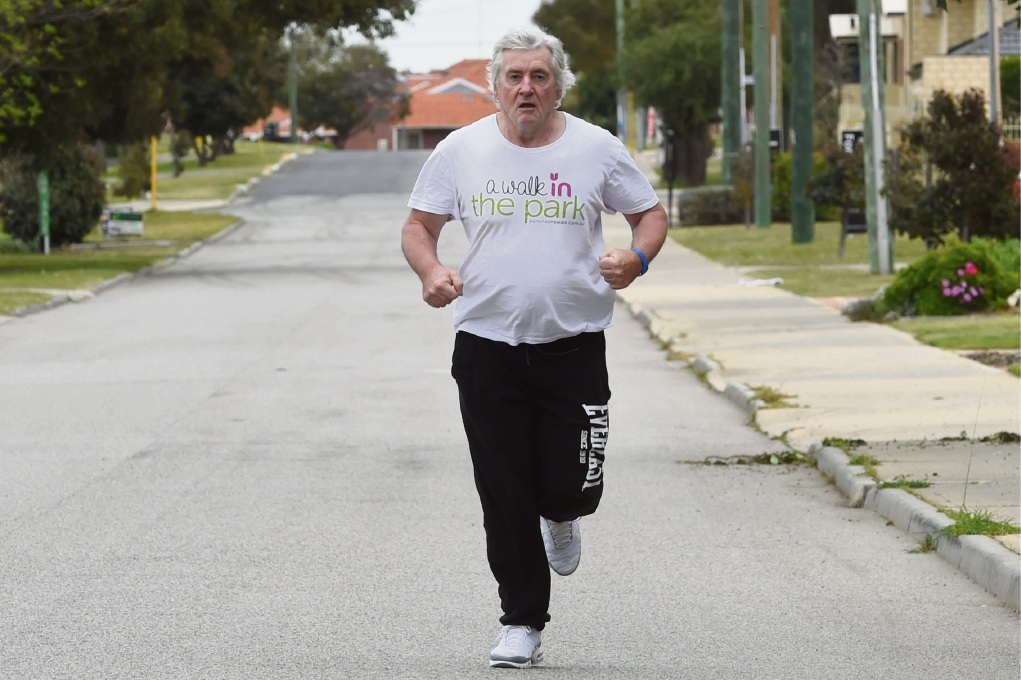 Daryl Winters  goes to the gym every day and took part in the City to Surf last month.  Picture: Jon Hewson www.communitypix.com.au   d473644
