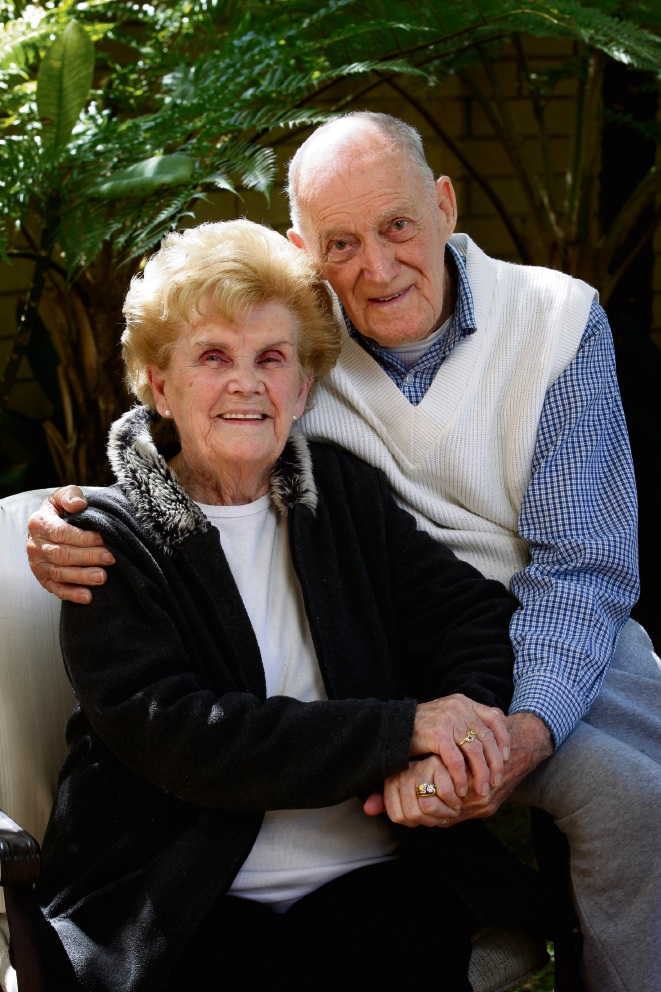 Eddie (91) and Rina (90) Holmes are celebrating their 71st wedding anniversary.